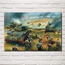 Книги по искусству Второй мировой войны солдаты танки Красная Армия наступление T 34 85 IP QX087 гостиная дома стены декор деревянной рамк