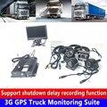 Camión de bomberos/tren/vehículo comercial 3G GPS camión kit de monitoreo 4G móvil posicionamiento remoto video tarjeta SD registro|Cámara multiángulo de coche| |  -