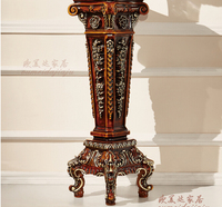 European Flower Sitting Room American New Classical Solid Wood For A Few French Rural Land Shelf