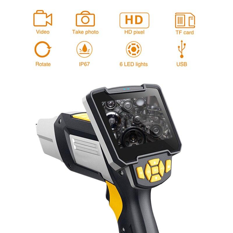 Endoscopio Digital Industrial 4,3 pulgadas LCD boroscopio Videoscope con Sensor CMOS cámara de inspección Semi-rígida endoscopio de mano - 2