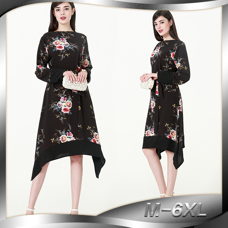 Europe and the Middle East Muslim Irregular Tops Malaysia Arab Women's Large Size 2023