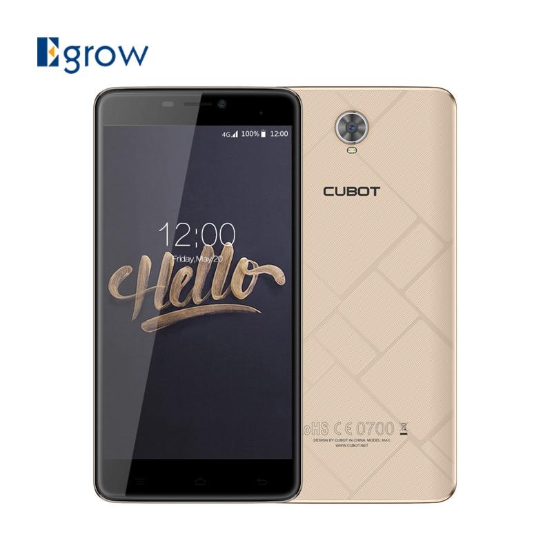Цена за Оригинал Cubot Макс 6.0 Дюймов Android 6.0 Мобильный Телефон MT6753A Octa Core 3 Г RAM 32 Г ROM Смартфон 4100 мАч 13.0MP 4 Г Сотовых Телефонов