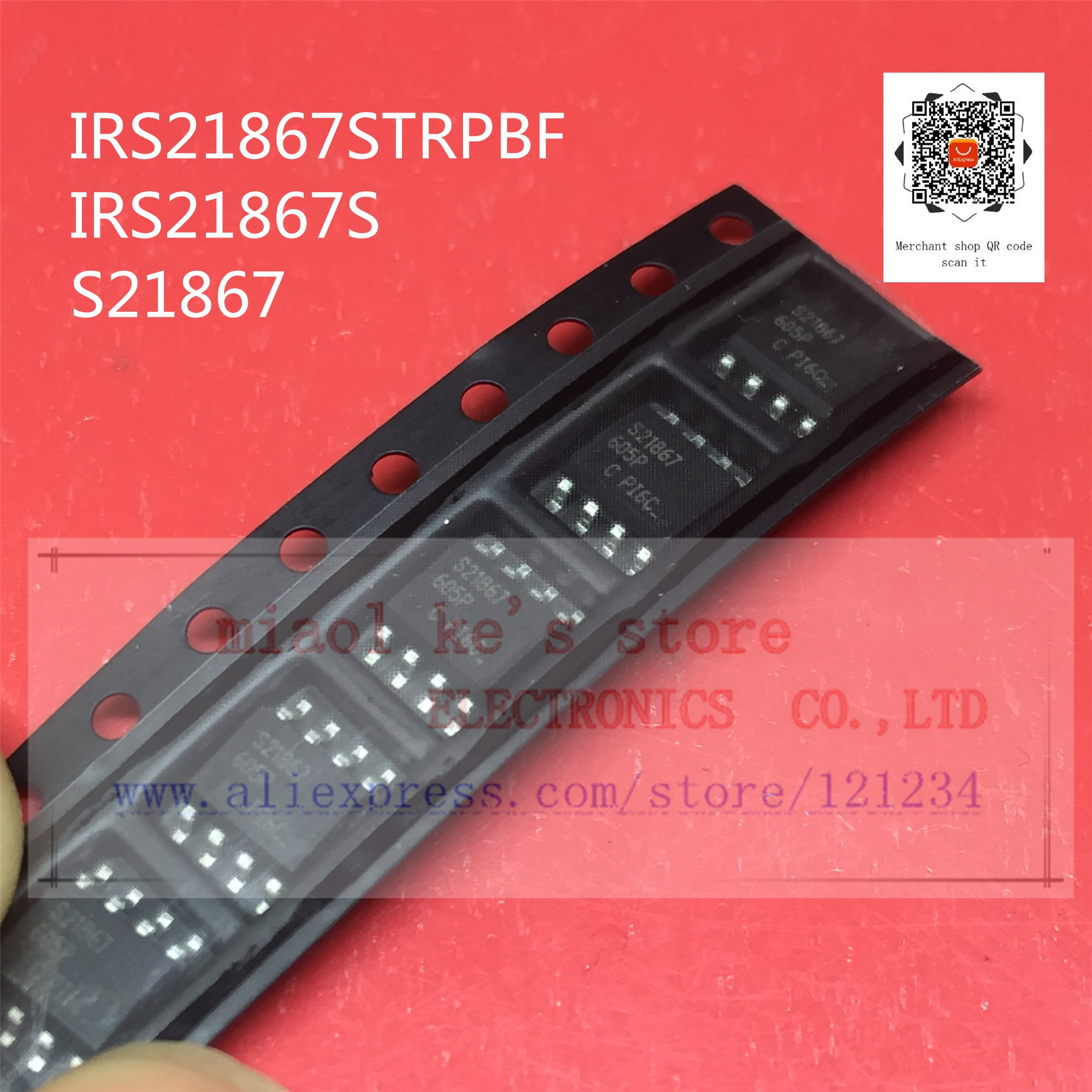 [ 5pcs/1lot or 10pcs/1lot ]100%New original; IRS21867STRPBF <font><b>IRS21867S</b></font> S21867 SOP8 - IC N-Channel MOSFET DRIVER image