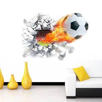 Adhesivos de fútbol para pared, decoración para habitación de niños, deportes, habitación de niño