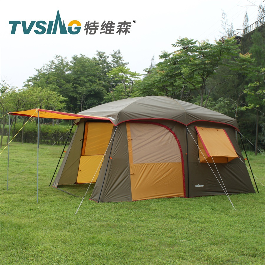 2015 Brand new 3 LAYER 1 bedroom 1 living room 5-8 person breathable anti rain outdoor party team base camping tent,family tent brand new 2015 3 584hz85198