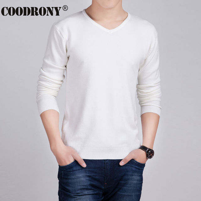 HS Solid Color Pullover Men Wool & Cashmere Sweater Men 2016 ...