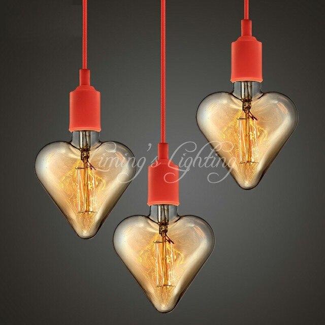 Herz Schatten Gluhlampen Gluhlampen Vintage Led Lampen E27 Antike