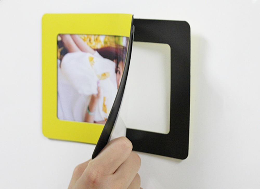 aliexpresscom buy 10 pcslot 3r 5r flexible colorful magnet picture frames stick on the wall pvc magnetic photo frame from reliable frame toy photo