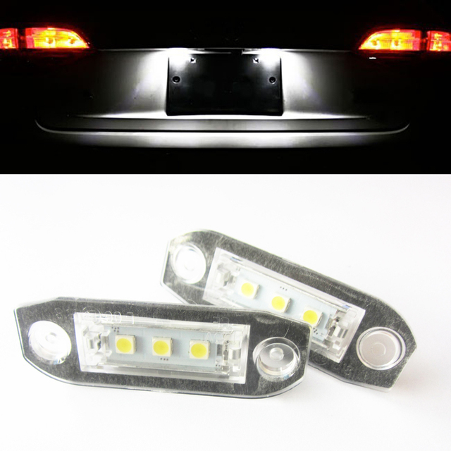 2x Error Free White LED Number License Plate Lights For Volvo S80 Xc90 S40 v60 S60 V70-in Signal ...