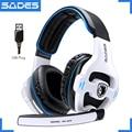 SADES SA-903 High-Performance 7.1 USB PC Headset Diepe Bass Gaming Hoofdtelefoon Met LED Micphone Voor Games Speler