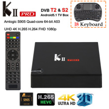 KII PRO DVB-S2 DVB-T2 Android TV Box Amlogic S905 Quad-Core Android 5.1 Tv Box BT4.0 2GB/16GB 2.4G/5GHz Dual Wifi Smart Media