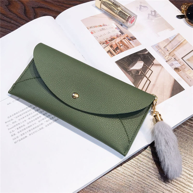New high Quality Fashion Brand Leather Women Wallets Long Thin ladies coin Purse Cards Holder Clutch bag magic Wallet female in Wallets from Luggage Bags
