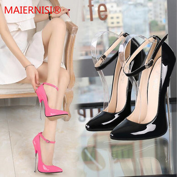 цена на Brand Shoes Woman High Heels Ladies Shoes metal 16CM Heels Pumps Women Shoes High Heels Sexy Black RED Wedding Shoes Stiletto