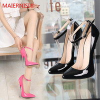 Brand Shoes Woman High Heels Ladies Shoes metal 16CM Heels Pumps Women Shoes High Heels Sexy Black RED Wedding Shoes Stiletto
