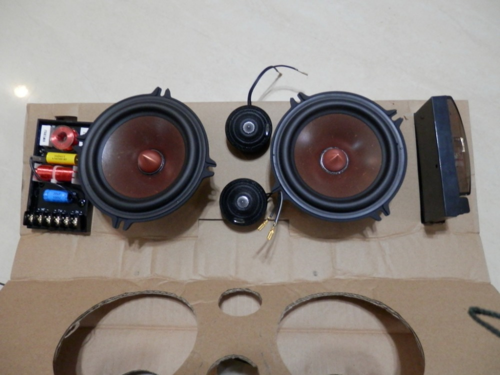 Melo david davidlouis audio car speaker kit..alpine tweeter+  grass mix paper cone woofer+ crossover alpine kit 7bm3a