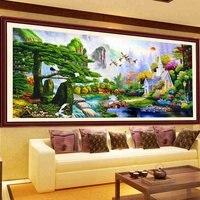190*90 5D DIY Вышивка с кристаллами алмазов Вышивка пейзаж лес узор хобби ремесла Алмазная мозаика Наборы