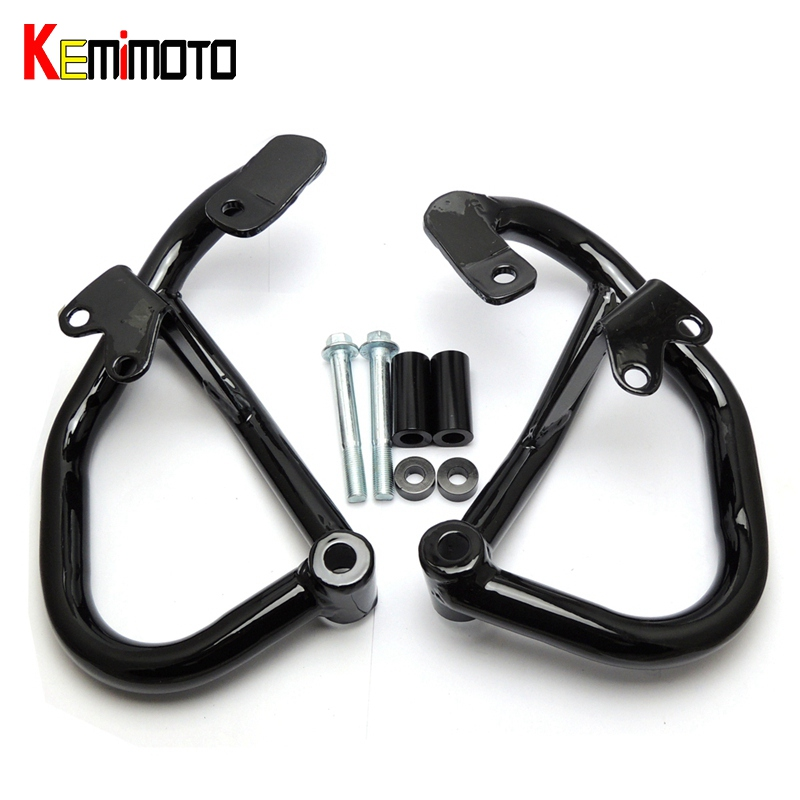 KEMiMOTO MT07 MT 07 Motorcycle Crash Bar Carsh Guard Cover Stainless Steel for Yamaha MT-07 FZ-07 2014 2015 2016 accessories kemimoto for yamaha mt07 mt 07 mt 07 fz 07 accessories cnc aluminum rear tire hugger chain guard 2014 2015 2016 2017
