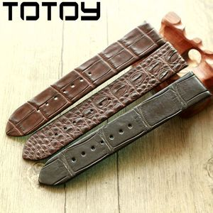 Image 5 - TOTOY Handmade Crocodile Leather Watchbands,Matching Antique Rretro Watchbands, 18 20 22MM Leather Mens Strap, Fast Delivery