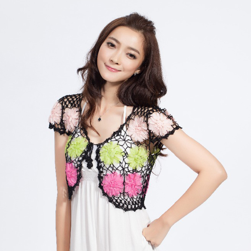 Aliexpress.com : Buy Hand Knitted Women's Shrug Brand See Through ...