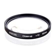 RISE(UK) 52mm Macro Primer plano + 10 filtro de cierre para todas las cámaras digitales DSLR 52MM lente