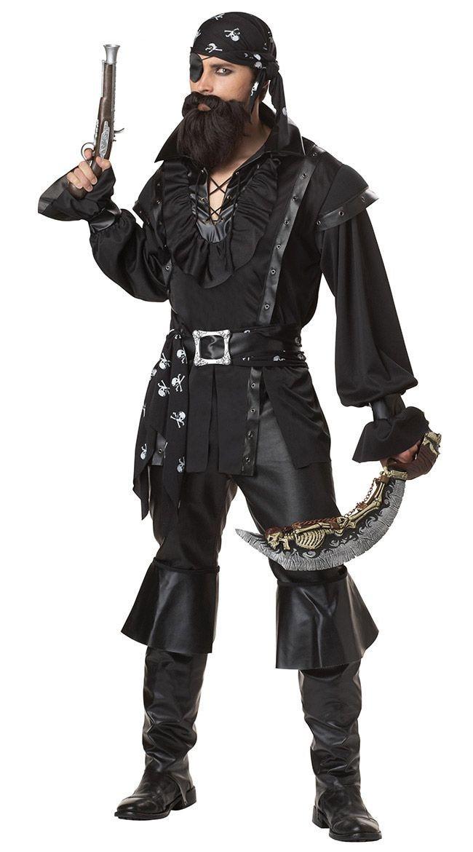 5Pcs Set Men Pirate Jack Costume Halloween Carnival Buccaneer Uniform Party Fancy Dress Pirates of The