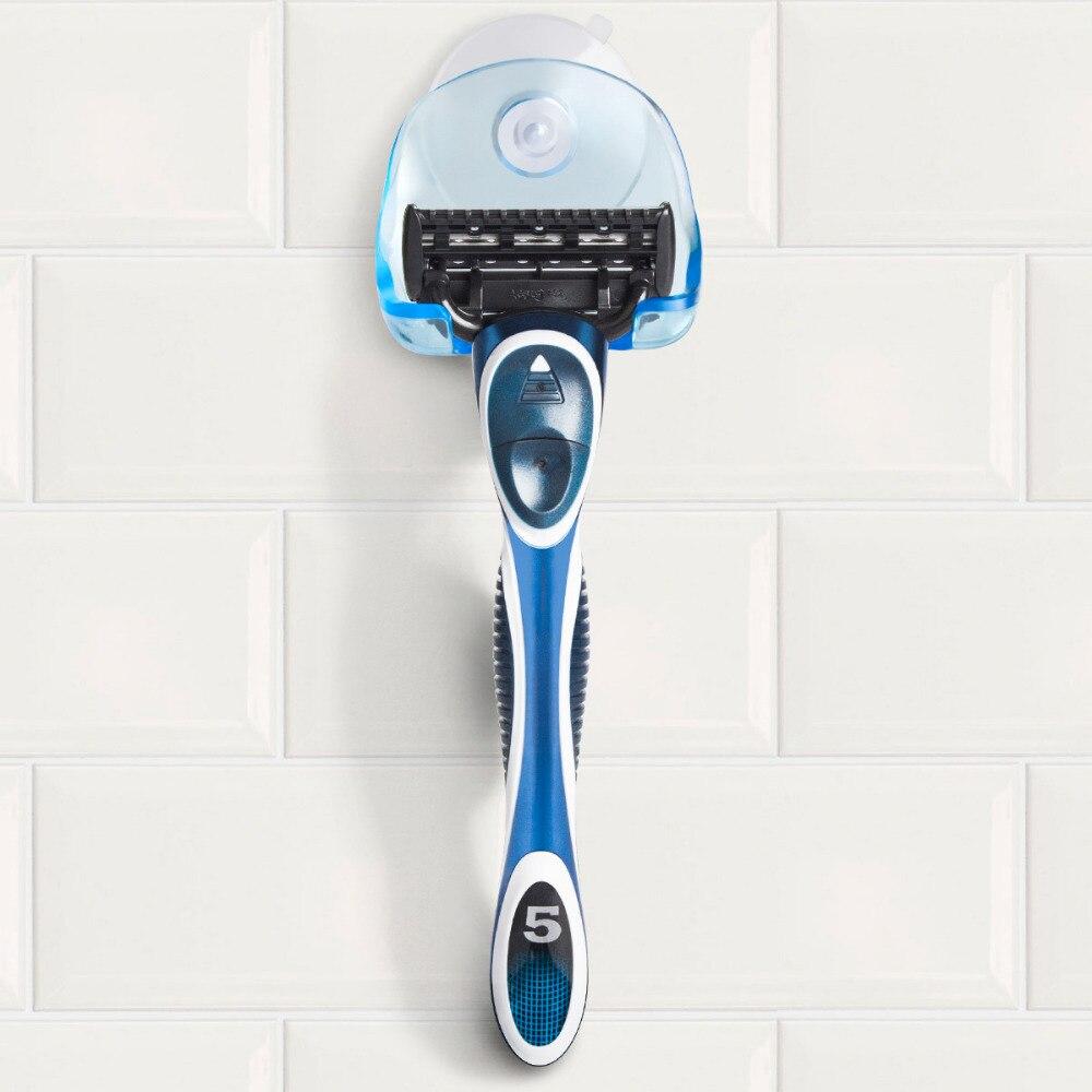 Home Accessories Wall-Sucking Razor Holder Bathroom Stand Toothbrush Shaver Cap Shower Razor Holder, 1PC Random Color