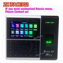 Zk software biométrico do comparecimento do tempo de controle de acesso Dedo iFace302 pode encomendar Rússia