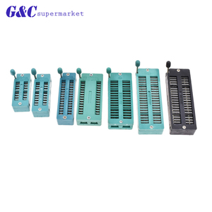 1PCS 16 20 28 28(WIDE) 32 40 40(BLACK) Pins Test Universal ZIF IC Socket 16P 20P 28P 32P 40P Sockets AF