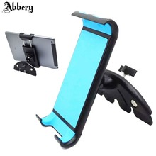 Abbery Car Universal Tablet CD Slot Car Mount Tablet Phone Holder for iPad 2 3 4 Air 1 2 Mini 1 2 3 4 iPhoneX 7 6S Android Phone