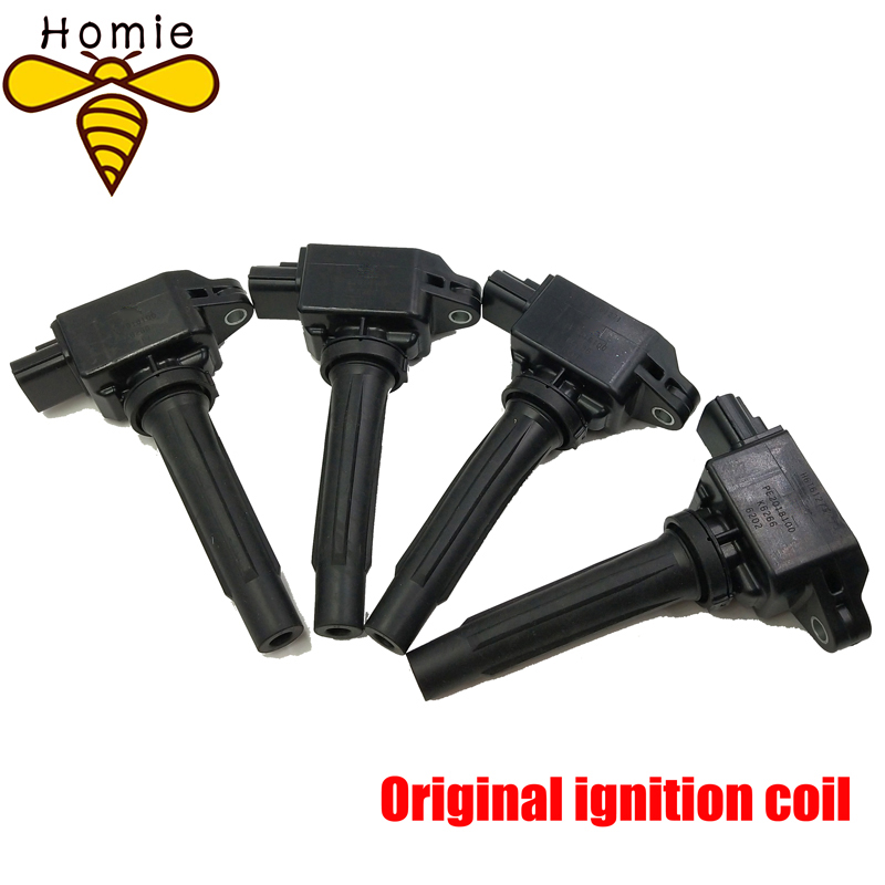 Homie 4Pcs High Quality Car Ignition Pencil Coil OEM PE2018100 H6T61271 For Mazda CX 5