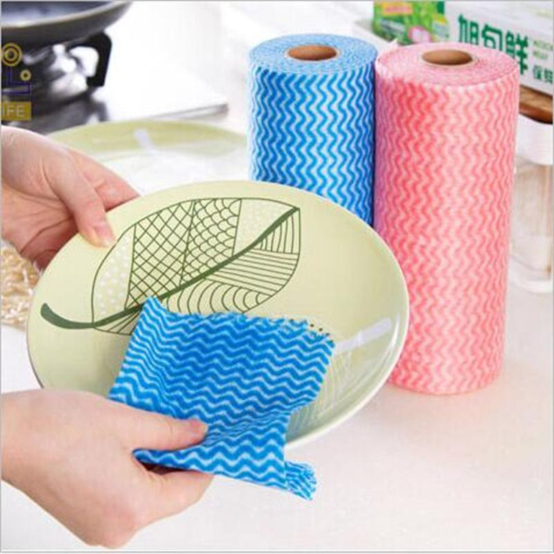 Amy Multipurpose Disposable Breakpoint Non Woven Kitchen Towels Dish Towel  Cleaning Cloth 50pcs In Roll Glasses Dish Wipes In Cleaning Cloths From  Home ...