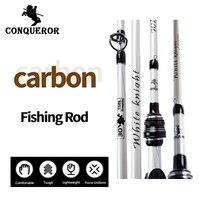 Conqueror WHhite Knight 2 10M 2 Tip Baitcasting Fishing Rod Medium Actions 1 4 3 4oz