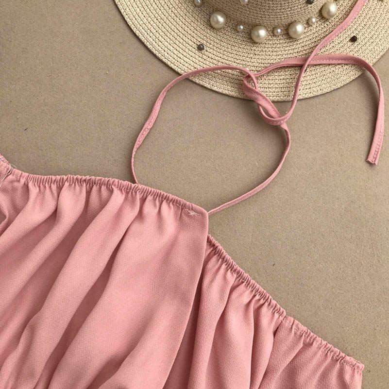 NiceMix Лето 2019, винтажный Летний комбинезон с расклешенными рукавами, шорты с широкими штанинами, шифоновые шорты с короткими рукавами и поясом, женские шорты со шнуровкой
