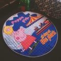 Новый 150 см Детские Игры Коврики Ребенка Ползать Одеяло Раунде Плей Мат Chilren Играть Ковер Цветок Свинья Животное Ковер Младенческой 100% Хлопок
