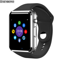 SENBONO Bluetooth Smart Watch Pedometer Sleep Monitor Notifier SMS Call Reminder Clock Touch Screen Smartwatch for Andorid(China)