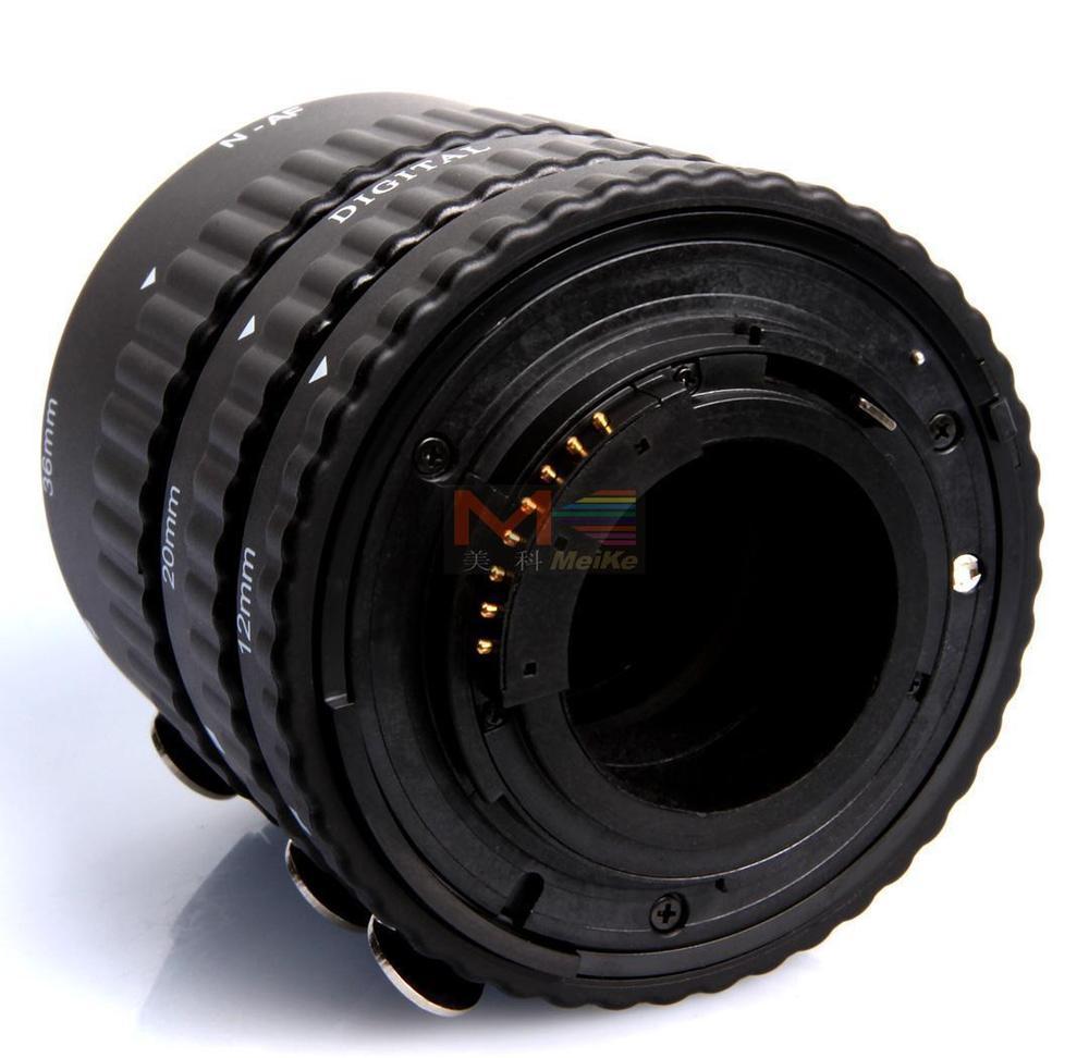 Meike Auto Focus Tube Extension Macro Set 12 20 36mm Adaptateur Anneau Pour Nikon D3100 D3200 D5000 Tous DSLR AF AF-S DX Camera Lens - 4