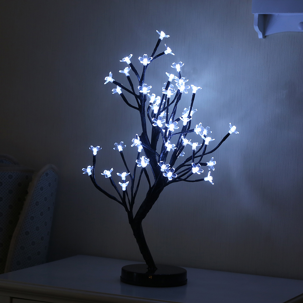 48 Heads Cherry Blossom Tree Night Lights Living Room Plum Blossom Tree Lamp LED Rose Night Lamp Home Fairy Wedding Decor led battery plum blossom flower tree night light adjustable waterproof atmosphere decorative lamp bedroom wedding holiday light