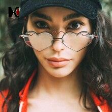 SHAUNA Unique Bullet 2018 Heart Sunglasses Women Fashion Rimless Pink Shades