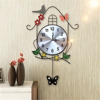 Digital Wall Clocks Modern Design Kitchen Big Acrylic Clock Wall Watch Living Room Decoration Farmhouse Birds Large Clock