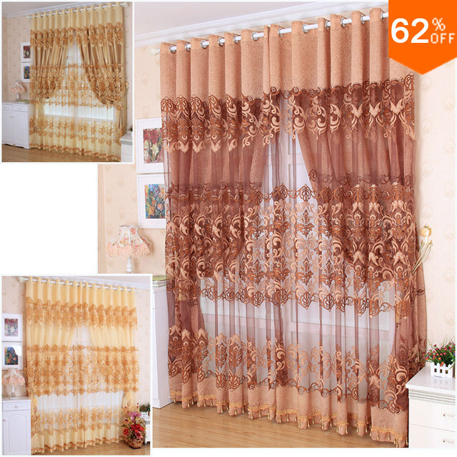 Modern curtain cutout quality jacquard window screen luxury carved bedroom curtain finished product home application decoration