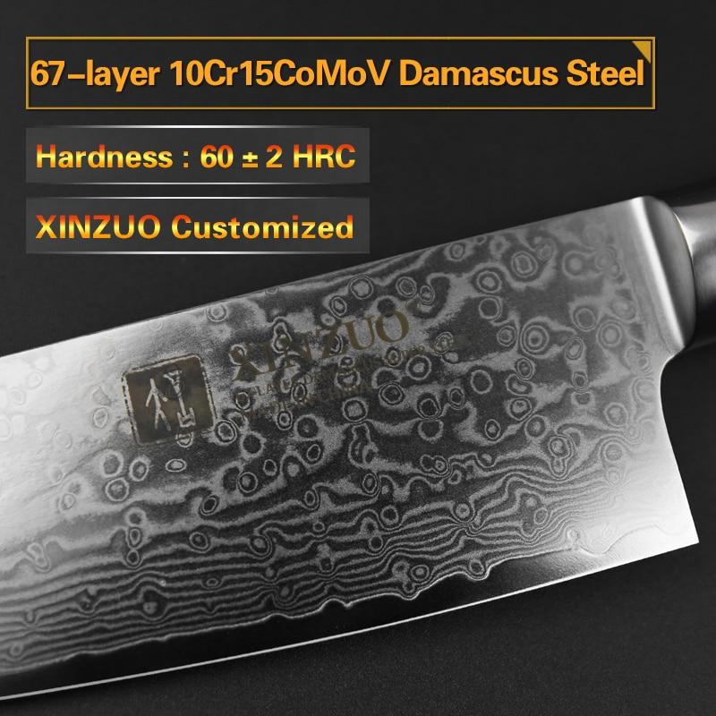 Ev ve Bahçe'ten Mutfak Bıçakları'de XINZUO 8 inç şef bıçağı Gyutou Bıçak Japon VG10 Şam Mutfak Bıçakları Paslanmaz Çelik kasap bıçağı Pakka Ahşap Kolu'da  Grup 2