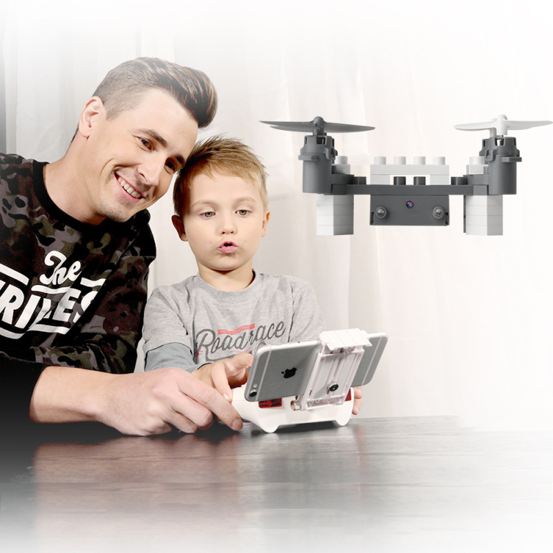 New educational toy Wifi FPV Remote Control Assembled block rc Drone 902s 2.4g Building block mini rc  Quadcopter with HD Camera mini drone rc helicopter quadrocopter headless model drons remote control toys for kids dron copter vs jjrc h36 rc drone hobbies