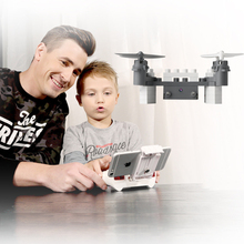 New educational toy Wifi FPV Remote Control Assembled block rc Drone 902s 2.4g Building block mini rc  Quadcopter with HD Camera