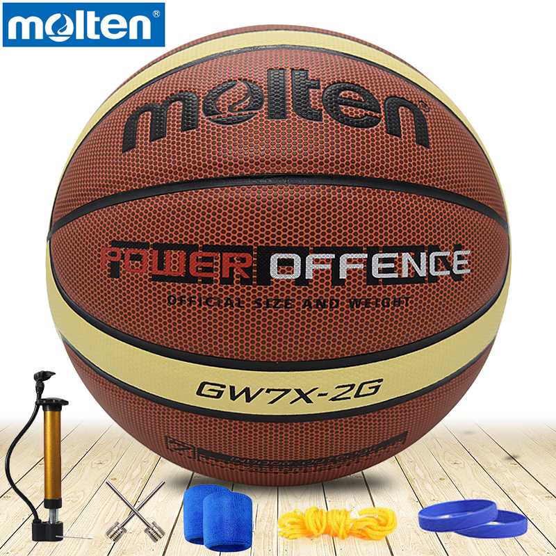 D'origine fondu basket-ball taille 7 fondu basket-ball taille 6 basket-ball Fondu PU Matériel Officiel Size7/Taille 6/5 basket-ball