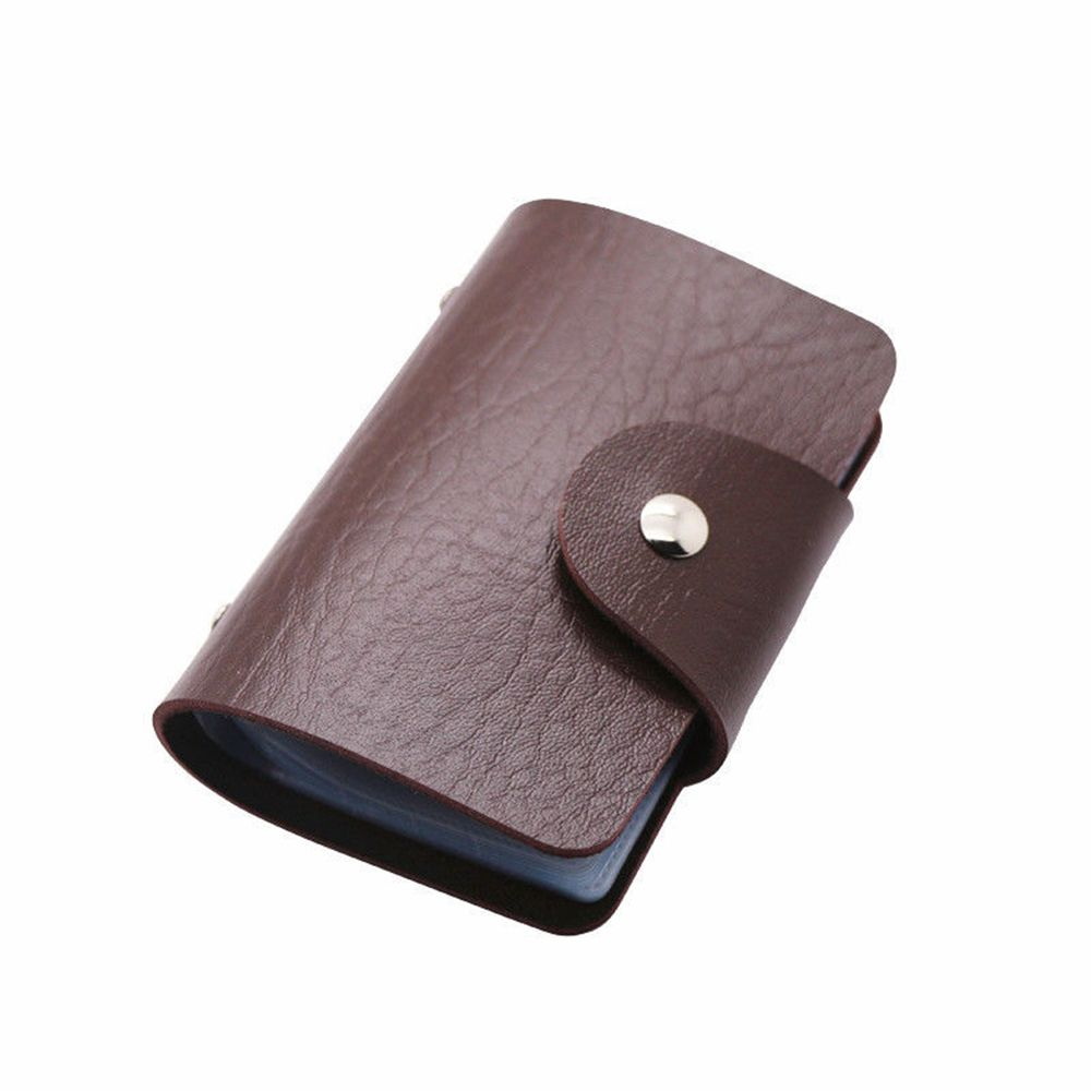 Candy Color Women Men ID Credit Card Holder Organizer 24 Slots Portable Business Pocket PU Leather Card Pouch Holder Wallet