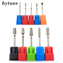 HYTOOS 10PCS Diamond Nail Drill Bit Kit 3/32″ Milling Cutter Bits For Manicure Pedicure Drill Accessories Cuticle Clean Tools