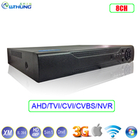 Hybrid TVI CVI IP NVR AHD DVR XMeye Hi3521A 1 SATA 8 Channel 8CH HD 4MP