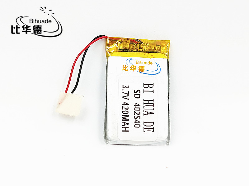 Li-Po 5pcs [SD] 3.7V,420mAH,[<font><b>402540</b></font>] Polymer lithium ion / Li-ion battery for TOY,POWER BANK,GPS,mp3,mp4,cell phone,speaker image