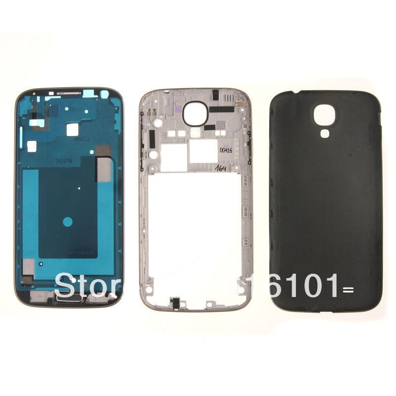 Full Housing Case Back Door Cover For Samsung Galaxy S4 GT I9500 Black