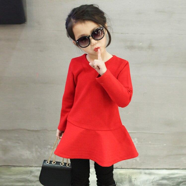 382afe5ea735 Spring 2 7 Years Old kids Wool Lotus leaf Dresses Girls Wool Dress ...